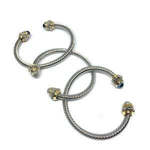 Jewelry - Open-end Cable Cuff Bracelet